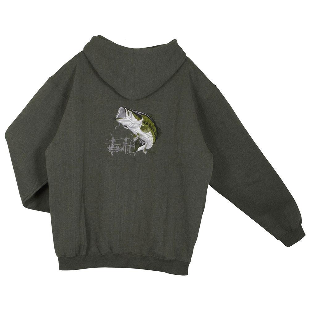 al agnew largemounth bass slip over hoodie green outletinn