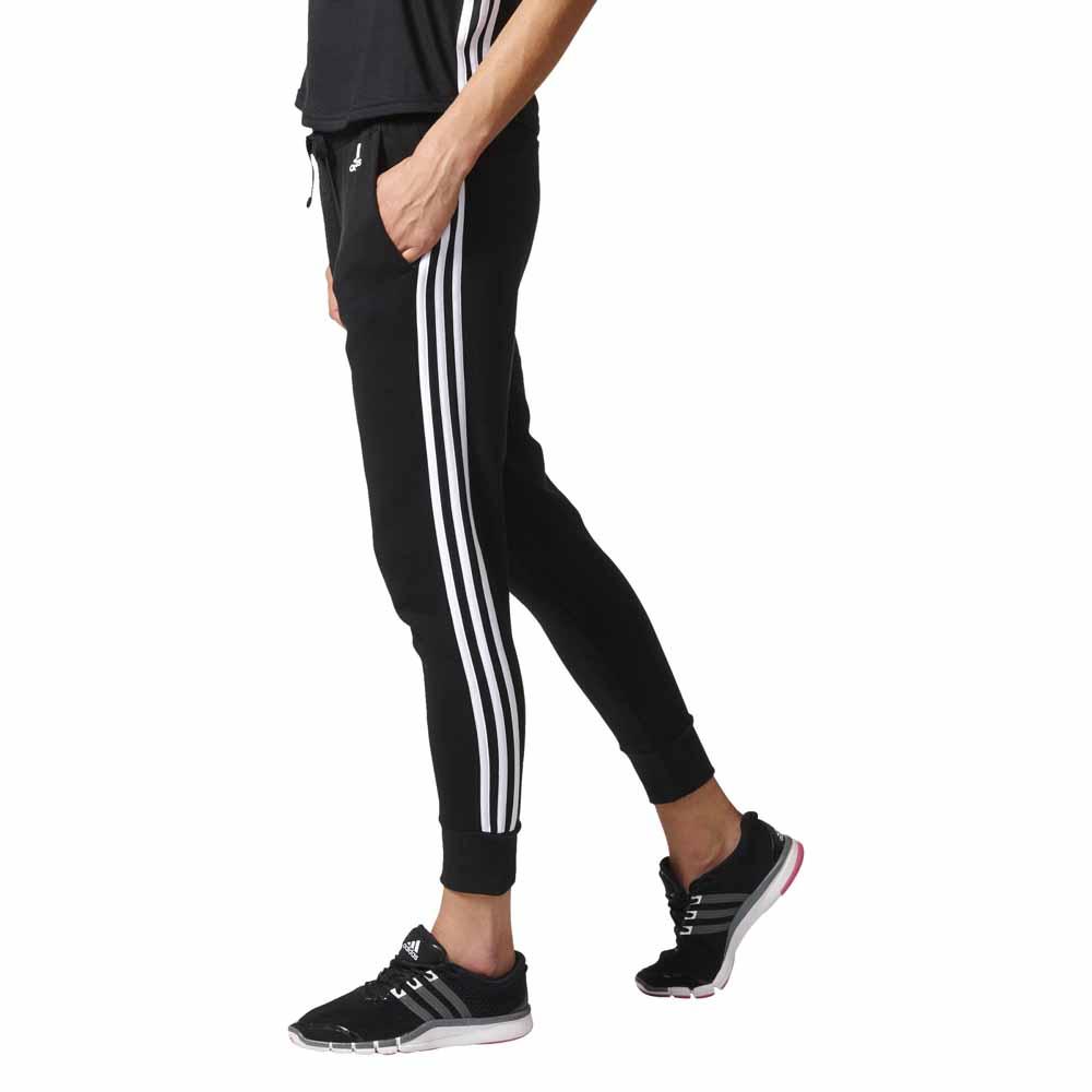 ... adidas Essentials 3 Stripes Tapered Pants ... 85134b2355