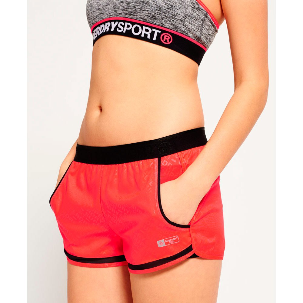 Superdry Sport Mesh Insert Short Red buy and offers on Outletinn 4cb1c6c55375