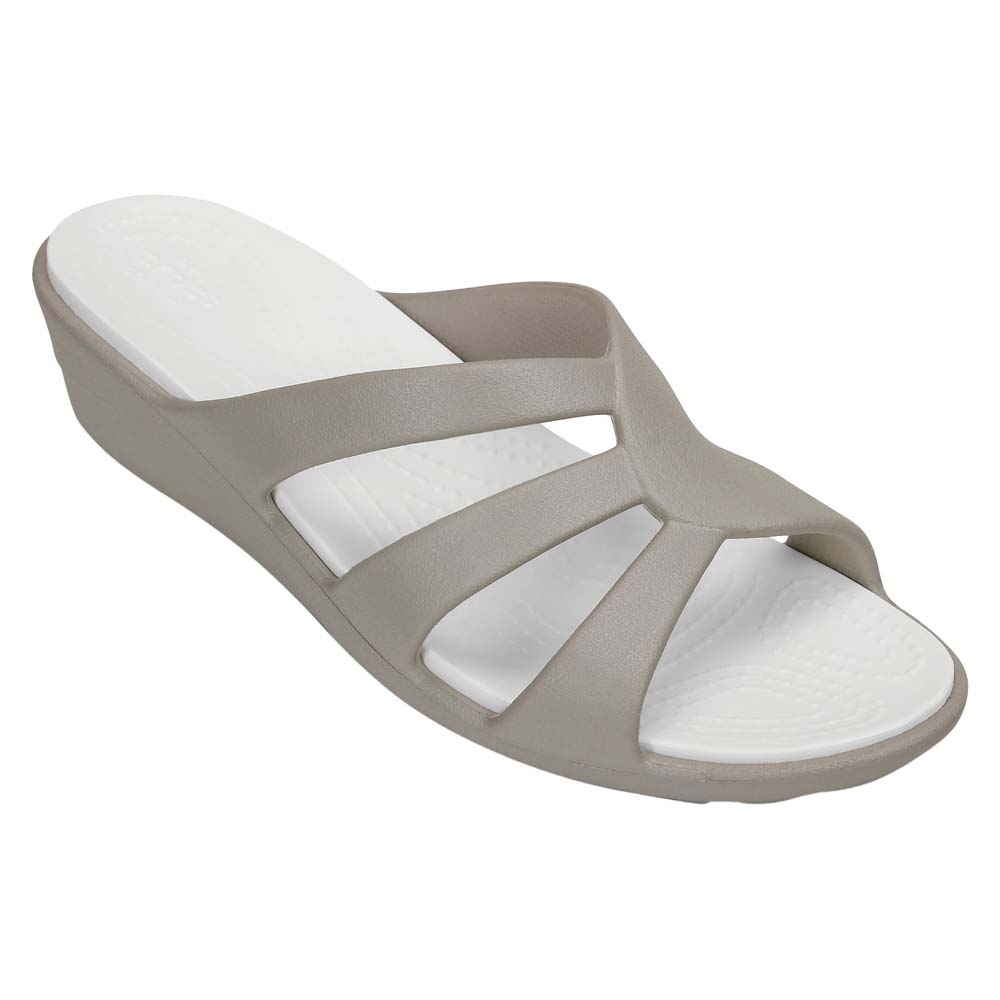 aee6f116782b Crocs Sanrah Strappy Wedge Grey buy and offers on Outletinn