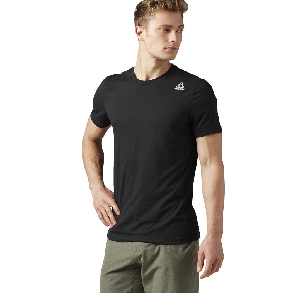 Reebok Elemments Classic Tee Black buy and offers on Outletinn 1479743a4