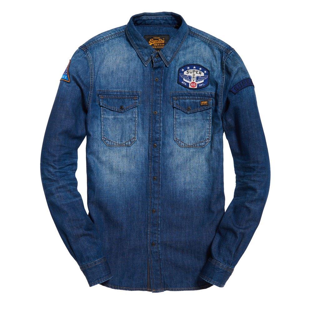 b27b0476d4 Superdry Dragway Patch Denim L S Shirt