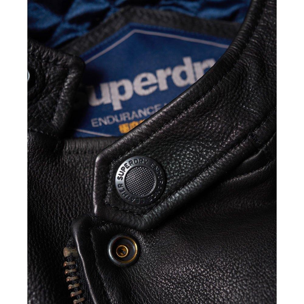 Superdry Veste en cuir SD Endurance Super Circuit Racer