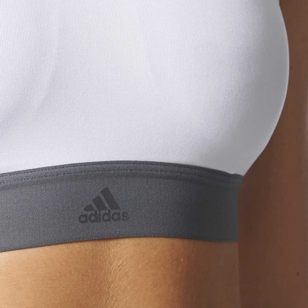 cf63b93651 adidas Halter Bra White buy and offers on Outletinn