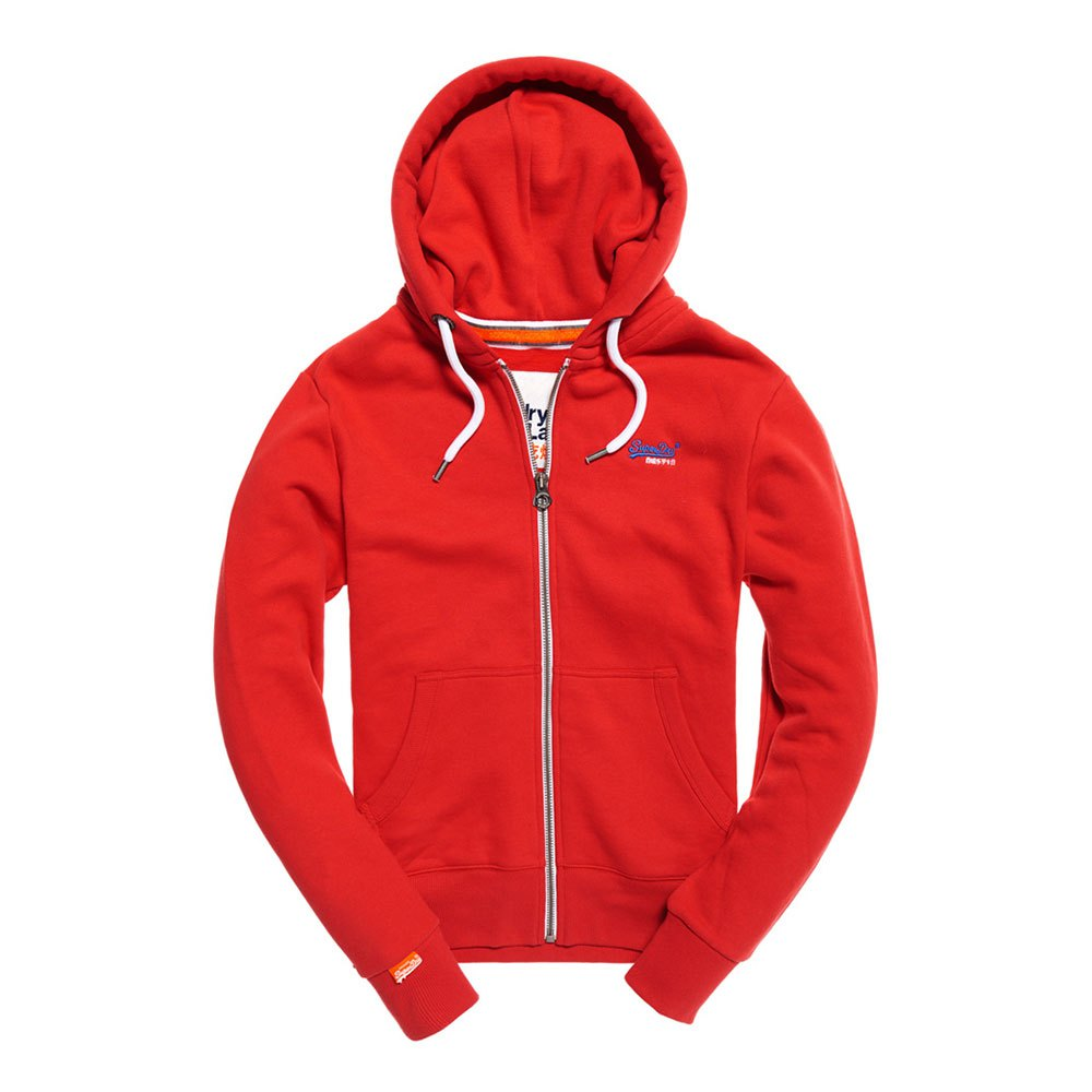 Superdry Orange Label Ziphood Red buy and offers on Outletinn aa07331198d5